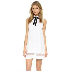 Alice + Olivia White Lace Irene Collared Dress